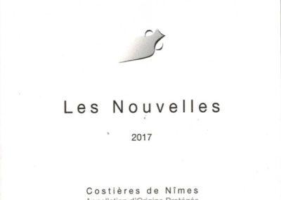 AOP Costières de Nîmes Les Nouvelles without sulphurs red AB