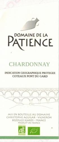 IGP Coteaux du Pont du Gard Chardonnay blanc  AB